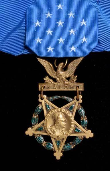 Andrew Jackson Smith's Medal of Honor (Abraham Lincoln Presidential Library and Museum).