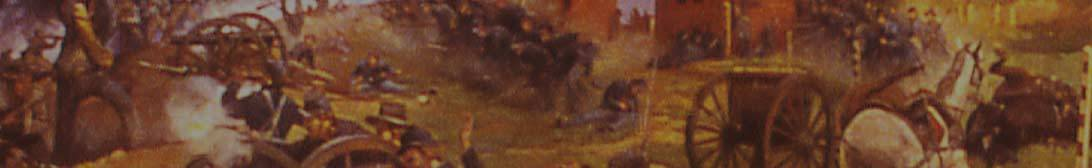 Civil War battle depiction